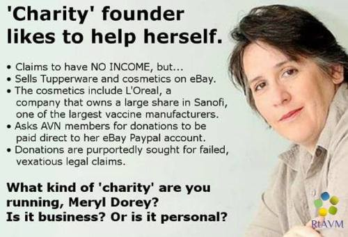 Is Meryl Dorey running a charity, a business or a personal venture? Where does the money really go?